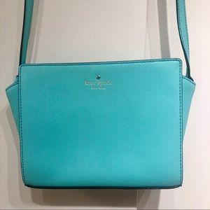Kate Spade teal aqua crossbody purse